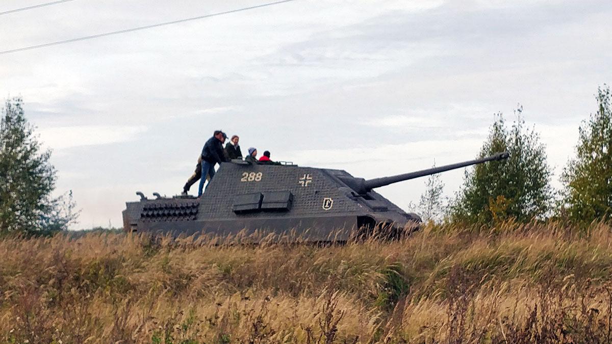 Катание на немецком танке