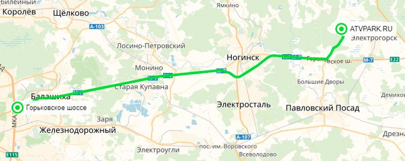 Карта проезда в ATVPARK